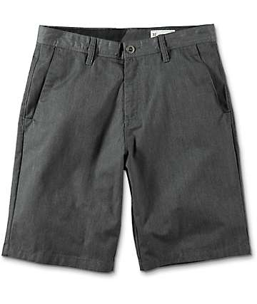 Volcom Frickin Charcoal Chino Shorts