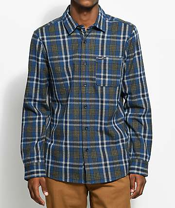 Volcom Marcos Blue Flannel Shirt