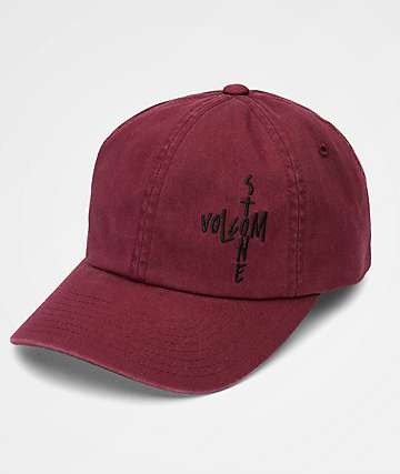 Volcom Pipe Dream Merlot Strapback Hat