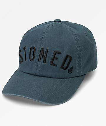 Volcom Pipe Dream Midnight Green Strapback Hat