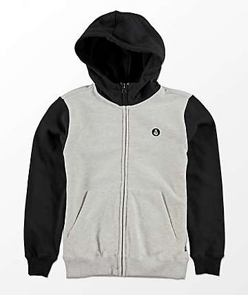 Volcom Single Stone Color Block Zip Hoodie