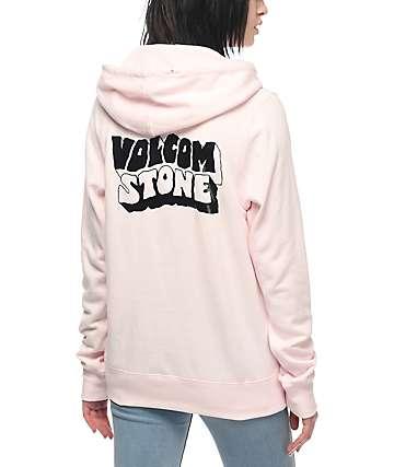 Volcom Slidin Pink Hoodie