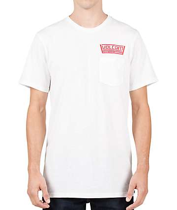 Volcom Truckin Pocket White T-Shirt