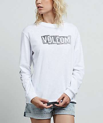 Volcom What A Trip White Long Sleeve T-Shirt