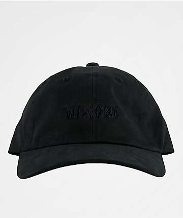Welcome Tonal Scrawl Black Baseball Hat