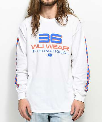 Wu-Wear 36 International White Long Sleeve T-Shirt