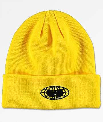 Wu-Wear Wu-Tang Globe Logo Yellow Beanie