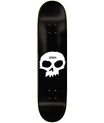 "Zero Single Skull 8.0"" Black & White Skateboard Deck"