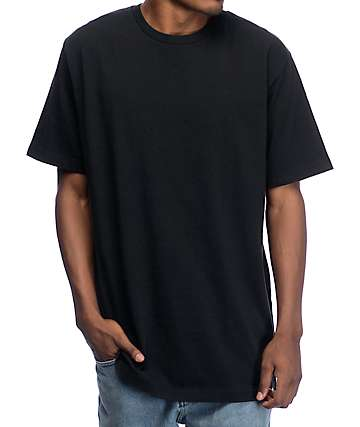 Zine Boxed Black Boxy Fit T-Shirt
