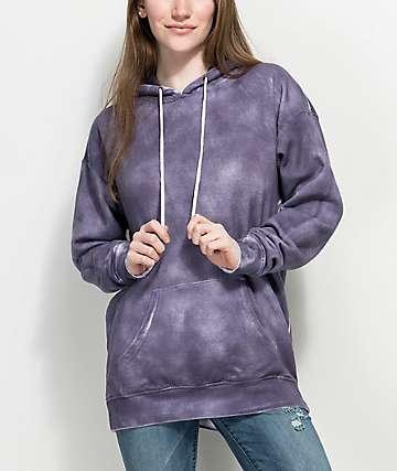 Zine Dorthea Purple Tie Dye Hoodie