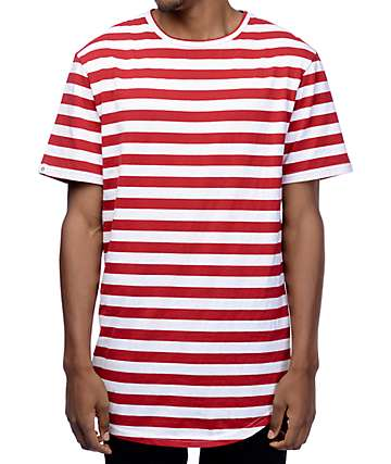 Zine Halfsies Red & White Striped T-Shirt