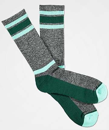 Zine Kick It Grey & Cabbage Crew Socks