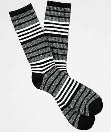 Zine Marlin White, Black & Grey Crew Socks