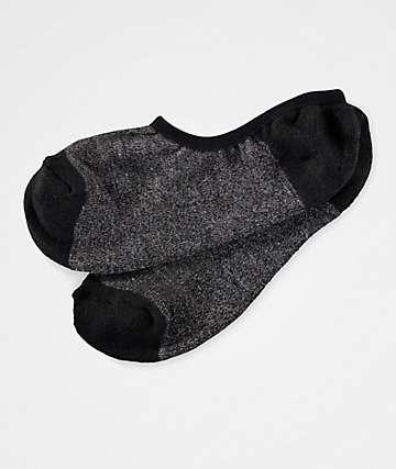 Zine No Show Heather Black Socks