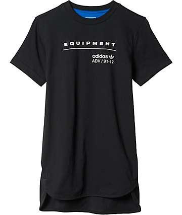 adidas Boys EQT Black Long T-Shirt