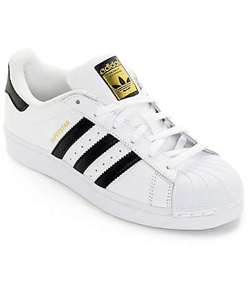 adidas Boys Superstar White & Black Shoes