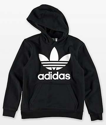 adidas Boys Trefoil Black Hoodie