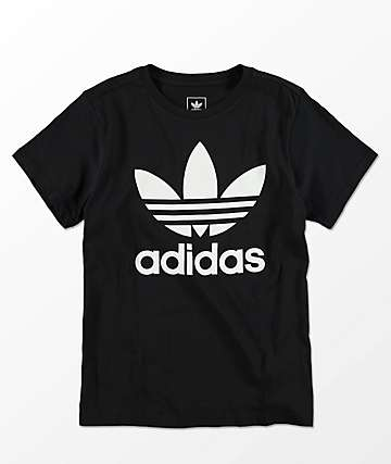adidas Boys Trefoil Black T-Shirt