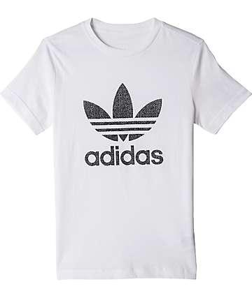 adidas Boys Trefoil White T-Shirt