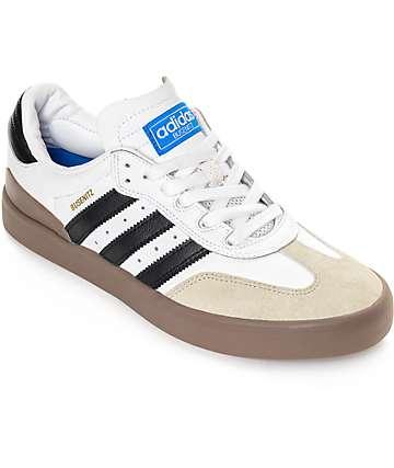 adidas Busenitz Vulc Samba White & Gum Shoes