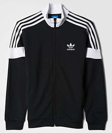 adidas Clr84 Black, White & Blue Track Jacket