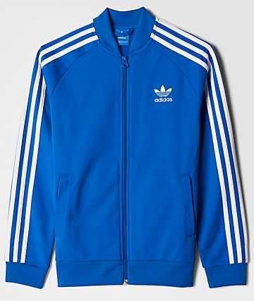 adidas J SST Blue & White Track Jacket