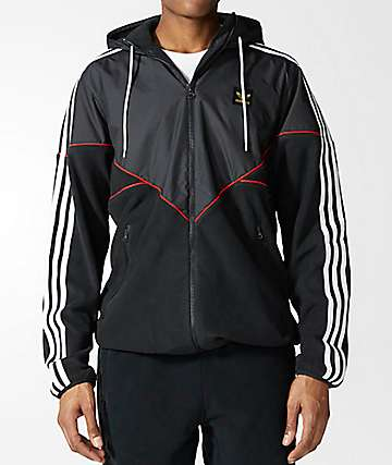 adidas Premiere Black Fleece Jacket