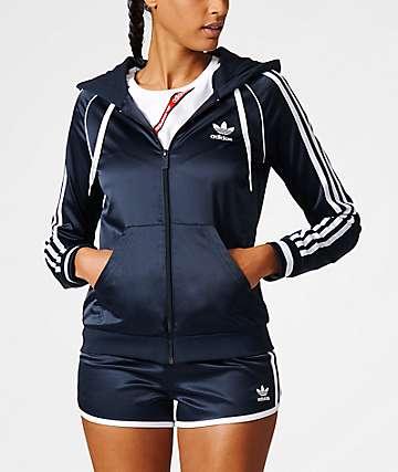 adidas Slim FZ Navy Zip Hoodie