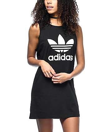 adidas Trefoil Black Tank Dress