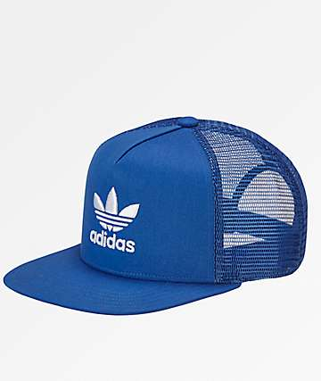 adidas Trefoil Blue Trucker Hat