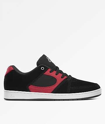 eS Accel Slim Black, Red & White Skate Shoes