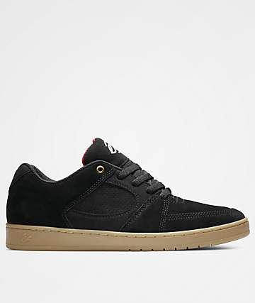 eS Accel Slim Black & Gum Skate Shoes