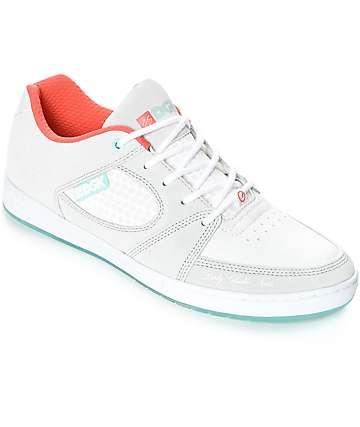 eS x DGK Accel Slim Grey & White Skate Shoes