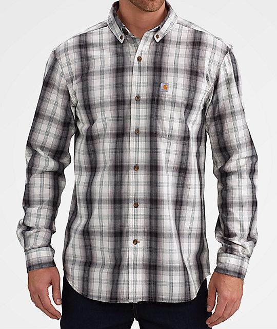 Carhartt essential black white flannel shirt for White and black flannel shirt womens