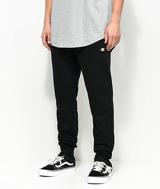 best website 070fa 03dc9 Champion Reverse Weave C Logo Black Jogger Pants .