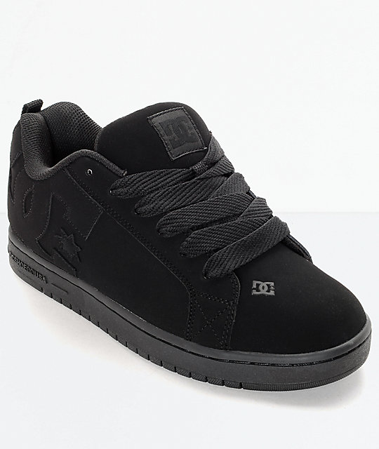 dc shoes. dc court graffik all black skate shoes dc \