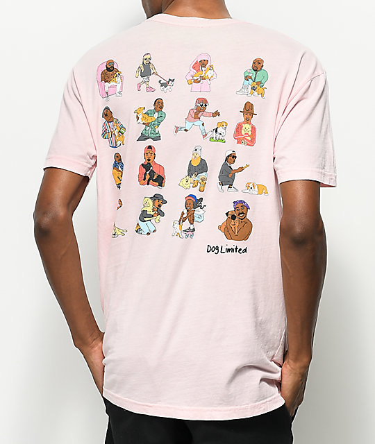 Dog Limited Rappers With Puppies Pink T Shirt