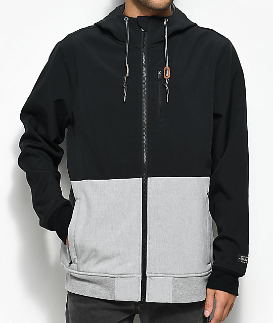 Trevor Black & Grey Tech Fleece Jacket