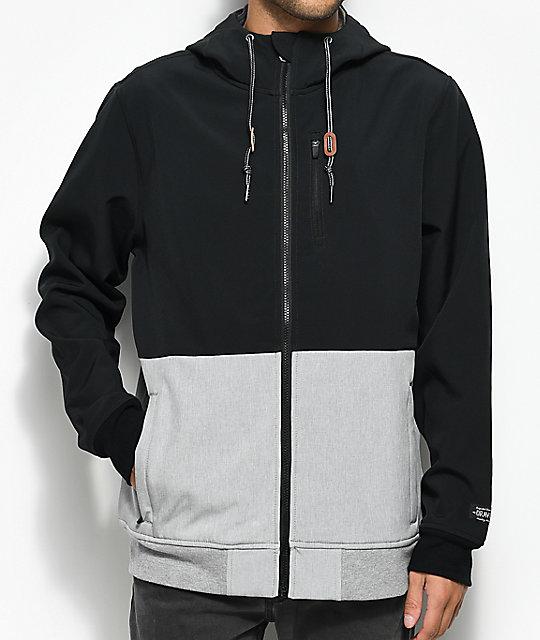 Trevor Black & Grey Tech Fleece Jacket