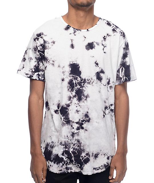eptm snow tie dye elongated t shirt