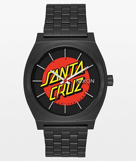Nixon time teller x santa cruz black watch for Watches zumiez