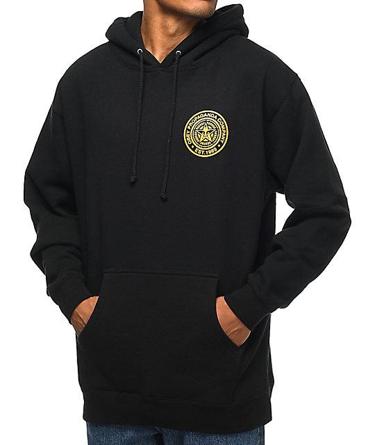 obey propaganda company black gold pullover hoodie. Black Bedroom Furniture Sets. Home Design Ideas
