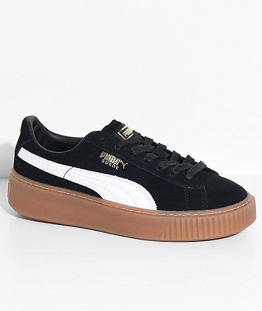 puma shoes suede black. puma suede platform black, white \u0026 gum shoes puma black b