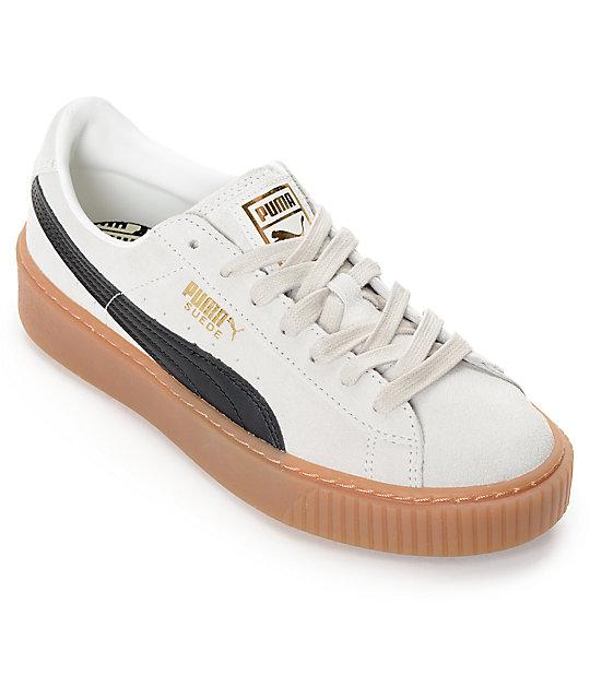 puma platform. puma suede platform core white \u0026 black shoes (womens) puma