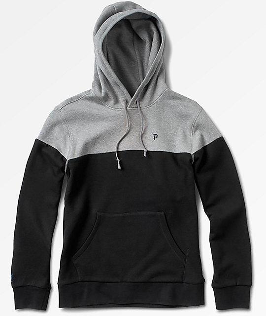 Primitive Dirty P Blocked Black & Grey Hoodie