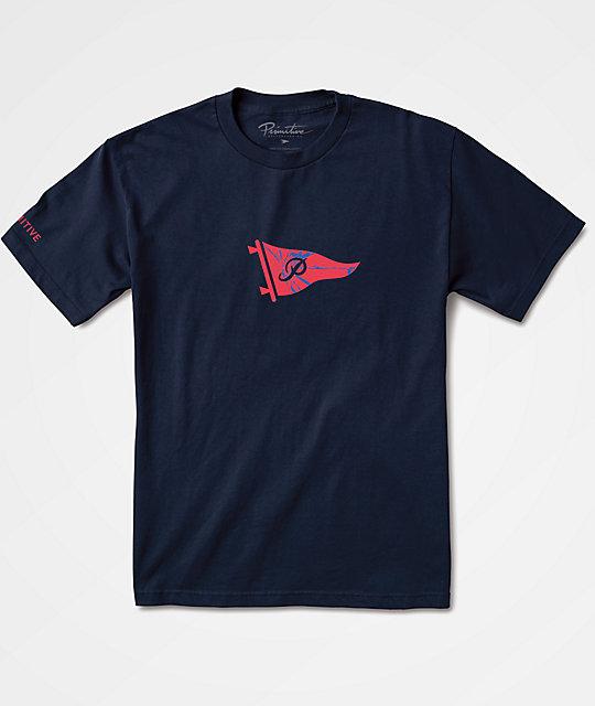Primitive Shattered Pennant Navy T-Shirt