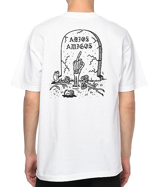 Sketchy tank adios white t shirt for Be sketchy t shirts