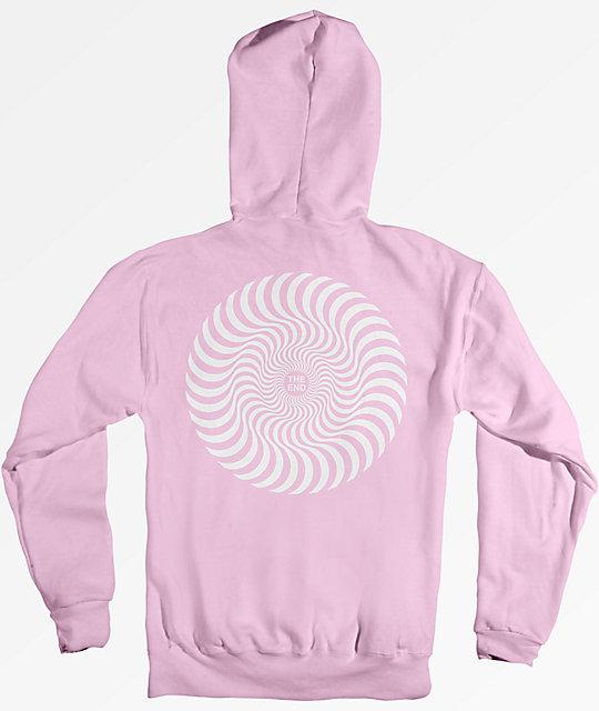 spitfire sweatshirt. spitfire classic swirl pink hoodie sweatshirt g