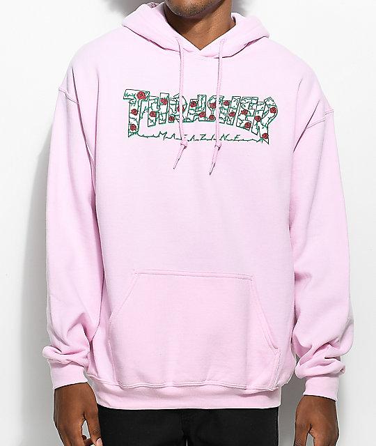 Thrasher Roses Pink Hoodie