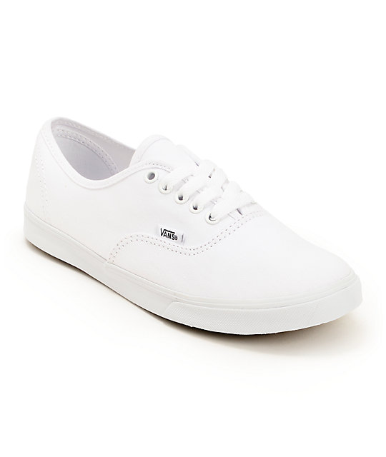 Solid White Leather Tennis Shoes